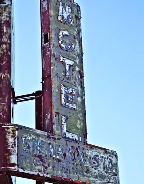 Motel Sierra Vista Vintage Neon Sign Poster