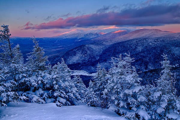 Mount Washington In The Evening Light From Mt Avalon Poster