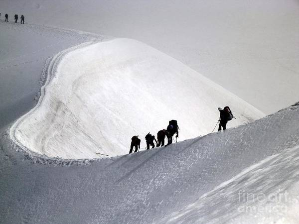 Mountaineers To Conquer Mont Blanc Poster