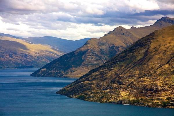 Mountains Meet Lake Poster