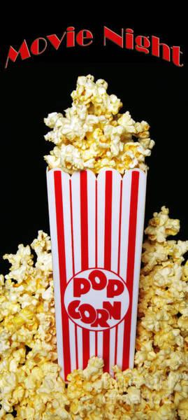 Movie Night Pop Corn Poster