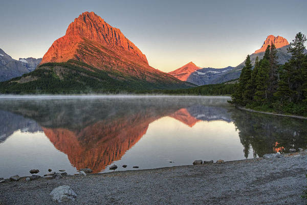 Poster featuring the photograph Mt. Grinnell Sunrise by Darlene Bushue