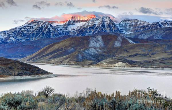 Mt. Timpanogos Winter Sunrise Poster