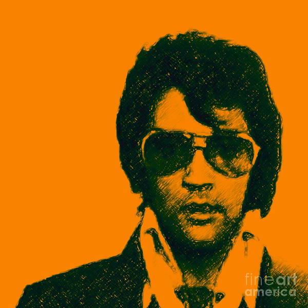 Mugshot Elvis Presley Square Poster