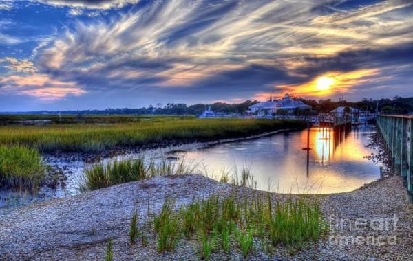 Poster featuring the photograph Murrells Inlet Sunset 4 by Mel Steinhauer