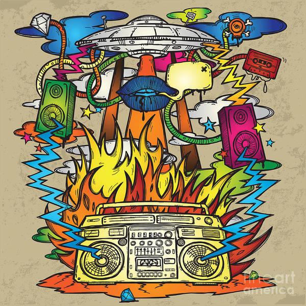 Music Background. Stylish Grunge Poster
