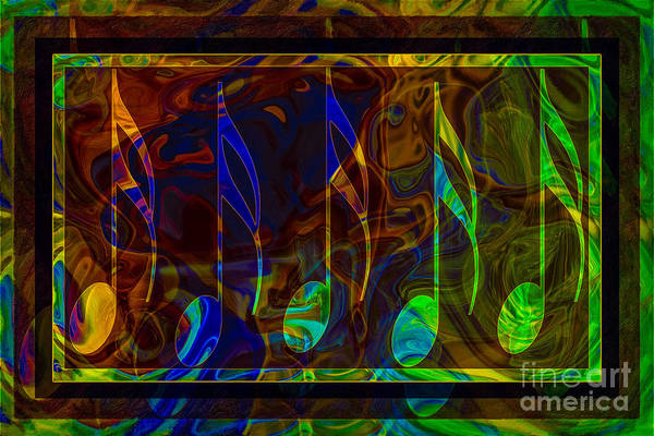 Music Is Magical Abstract Healing Art Poster