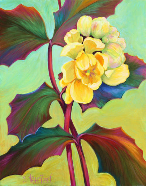 Poster featuring the painting My Oregon Grape by Sandi Whetzel