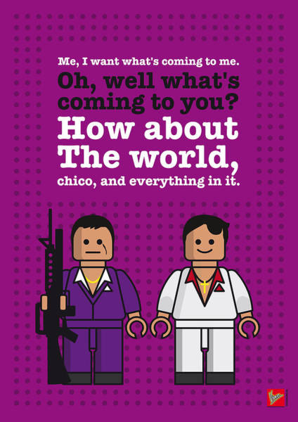 My Scarface Lego Dialogue Poster Poster