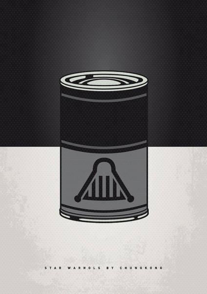 My Star Warhols Darth Vader Minimal Can Poster Poster