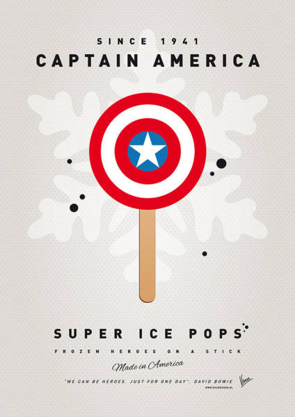 My Superhero Ice Pop - Captain America Poster