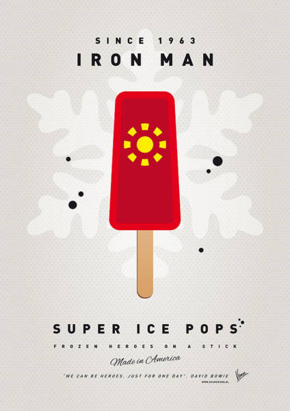 My Superhero Ice Pop - Iron Man Poster