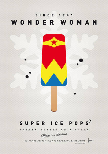 My Superhero Ice Pop - Wonder Woman Poster