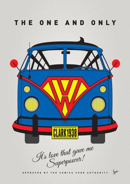 My Superhero-vw-t1-superman Poster