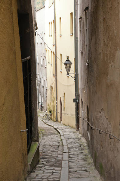 Narrow Street In Passau, Germany Poster