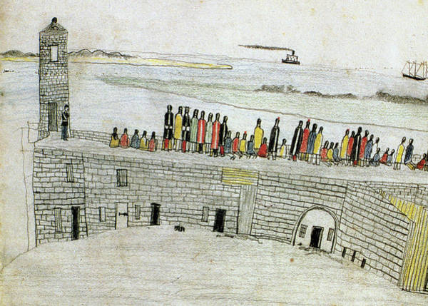 Native Americans Prison, 1875 Poster