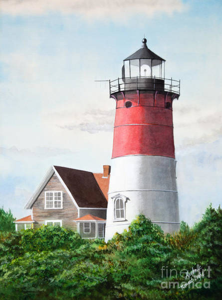 Nauset Beach Memories Watercolor Painting Poster