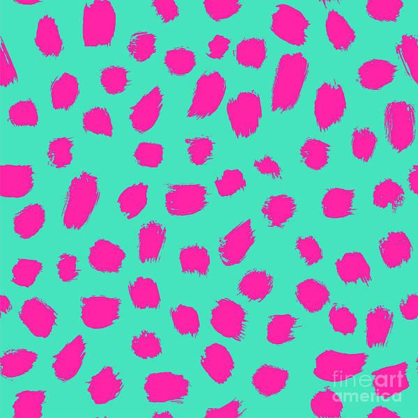Neon Brush Seamless Pattern Background Poster