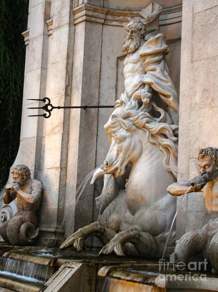 Neptune Fountain In Salzburg Austria - 01 Poster