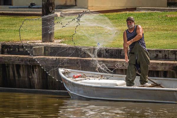 Net Fishing In Delcambre La Poster
