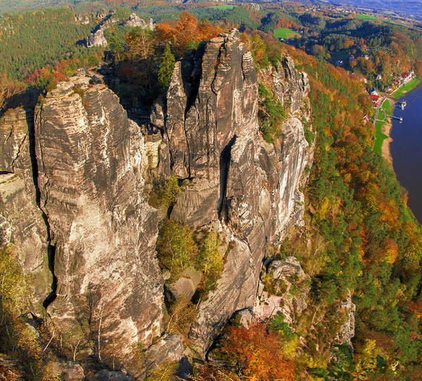 Neurathen Castle In The Saxon Switzerland Poster