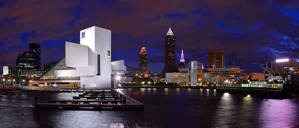 New Cleveland Waterfront With Storm Clouds Poster