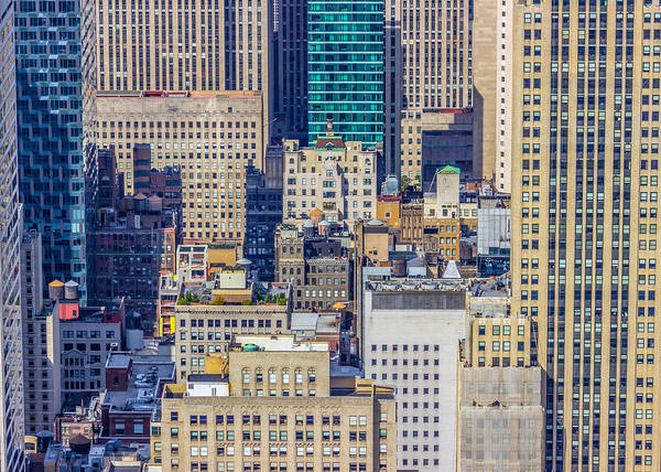 New York City Buildings Abstract Poster