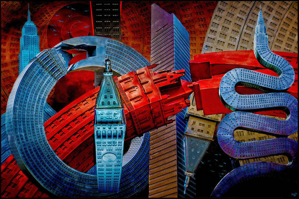 New York City Park Avenue Sculptures Reimagined Poster