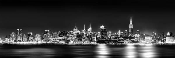 New York City Skyline - Bw Poster