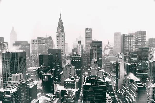 New York City - Snow-covered Skyline Poster