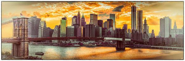 New York City Summer Panorama Poster