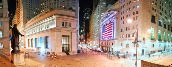 New York City Wall Street Panorama Poster