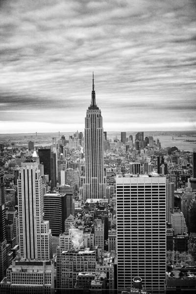 Black And White Photo Of New York Skyline Poster