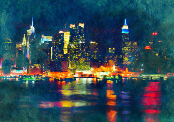 New York State Of Mind Abstract Realism Poster