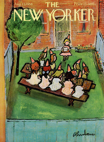 New Yorker August 23rd, 1958 Poster