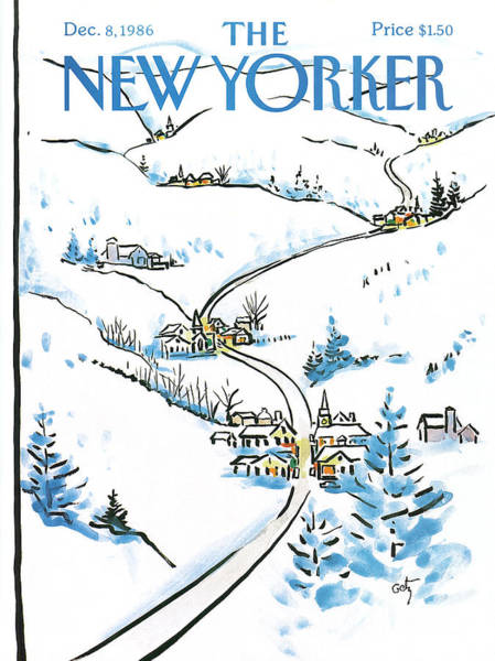 New Yorker December 8th, 1986 Poster