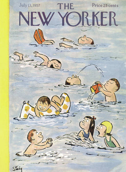 New Yorker July 13th, 1957 Poster