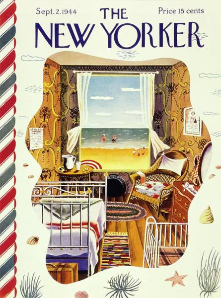New Yorker Magazine Cover Of A Bedroom By The Sea Poster