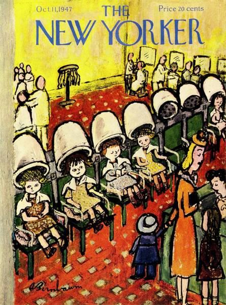 New Yorker Magazine Cover Of Girls Under Hair Poster