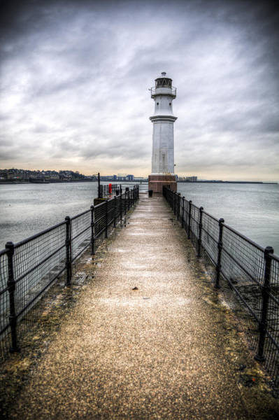 Poster featuring the photograph Newhaven Lighthouse by Ross G Strachan