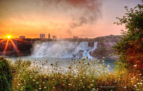 Niagara Falls Canada Sunrise Poster