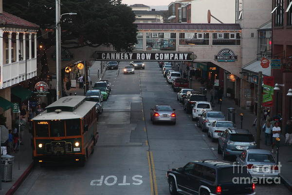 Nightfall Over Monterey Cannery Row California 5d25143 Poster