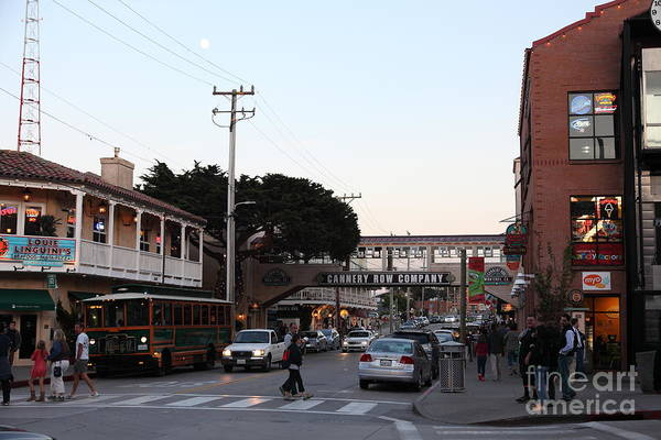 Nightfall Over Monterey Cannery Row California 5d25144 Poster