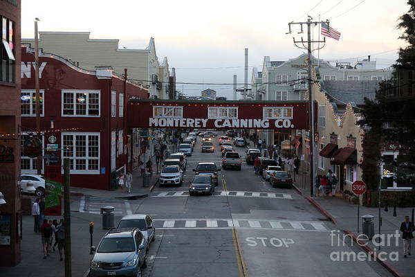 Nightfall Over Monterey Cannery Row California 5d25149 Poster