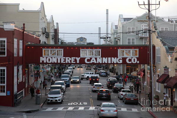 Nightfall Over Monterey Cannery Row California 5d25153 Poster
