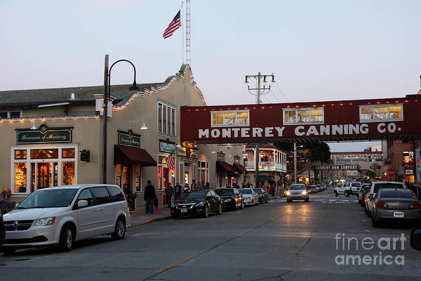 Nightfall Over Monterey Cannery Row California 5d25167 Poster