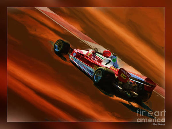 Niki Lauda's Ferrari Poster