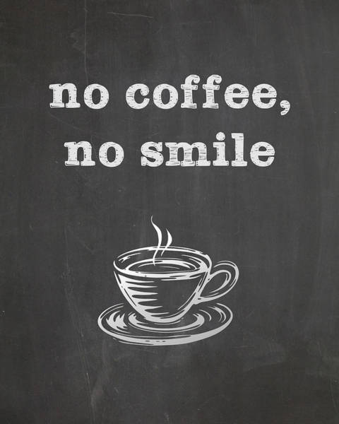 No Coffee No Smile Poster