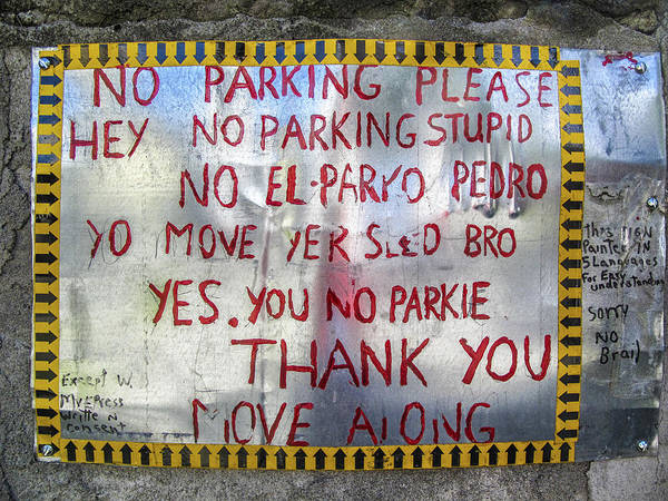 No El Parko Pedro Sign Poster