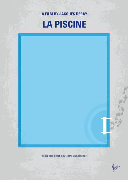 No137 My La Piscine Minimal Movie Poster Poster